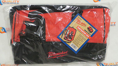 New Milwaukee 18  Heavy Duty Contractors Tool Bag W  Shoulder Strap 48 55 3510