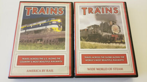 2 Trains DVDs America By Rail & Wide World of Steam
