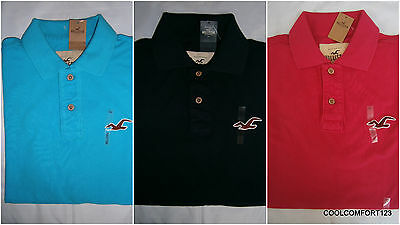 NWT Hollister Pacific Polo Shirt Mens Rugby Muscle Fit Size S&M&L By Abercrombie