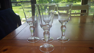Clear Glass Water Goblets Glasses Bulb Stem Flared top 4 13 ounce elegant stems 13 Ounce Clear Glass