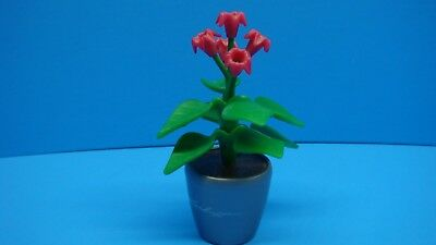 Playmobil Mansion House Hospital School Lechuza red flower plant w/ pot 118