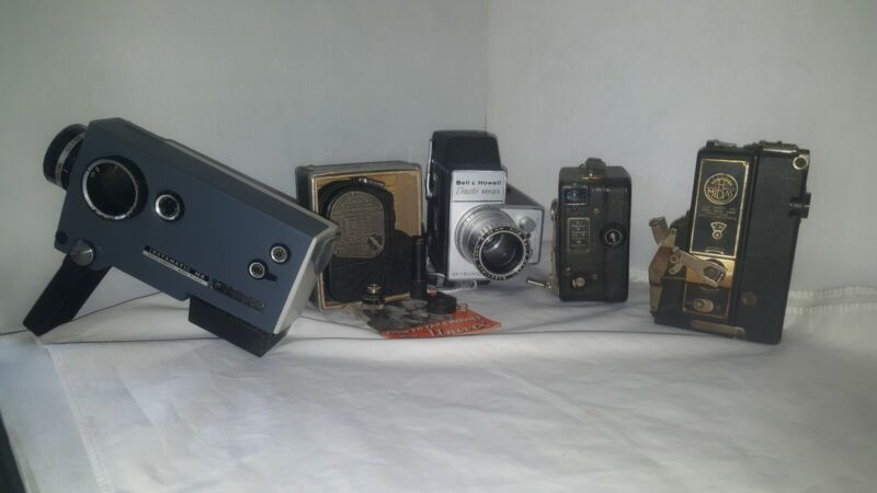 Vintage Lot of Assorted Film Cameras 5 Pieces