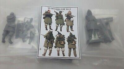 1:35 Evolution Miniatures SS Grenadiere Division LAH Set 5 3 Figuren Resin Neu