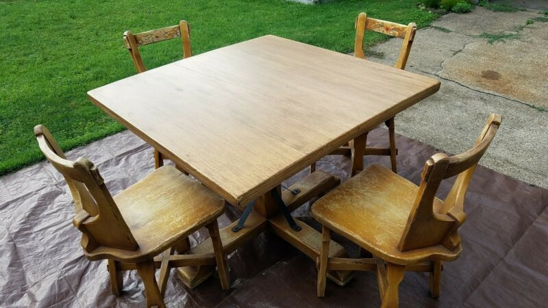 Coronado table and chairs Monterey style 1930s-40s mission bungalow