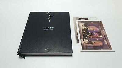 BTS 2017 Wings Concept Book PHOTO BOOK + 2POST CARD SET(NO LENTICULAR CARD)