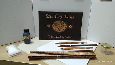 Arabic Calligraphy Set1 (Qalam,Ink,Lika,Inkwell,Papers,Practice book) - EGYPT for sale  Shipping to Canada