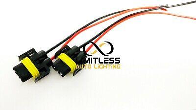 2pc H11 H8 880 881 LED Headlight Fog Light Female Plug Pigtail Wire Harness