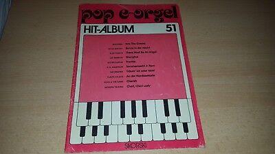 POP E-Orgel Hit Album - Nr. 51 - Noten und Text - Sikorski