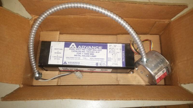 ADVANCE 72C5381-N-P NEW IN BOX 100W METAL HALIDE BRICK BALLAST W/ SOCKET #A56