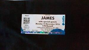 Ticket to JAMES concert in Melbourne Aberfoyle Park Morphett Vale Area Preview