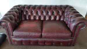 Leather sofa 2.5 seat chesterfield moran lounge Camp Mountain Brisbane North West Preview