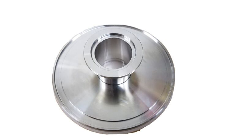 ISO 100 to NW (KF) 40 Reducing Vacuum Flange, Stainless Steel