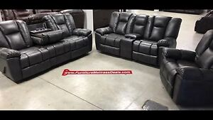 New leather/fabric living room sets ranging $1900-$3600