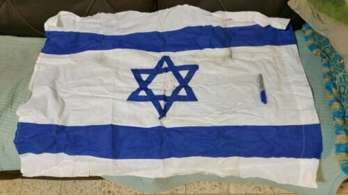 israeli vintage flag real flag made in israel cotton 1