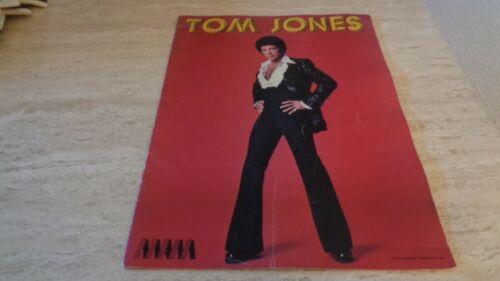 1977 Tom Jones Concert Tour Program