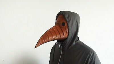 Plague Dr Mask Alligator Handmade Leather Cosplay Steampunk