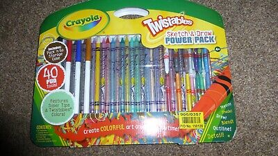 Crayola Twistables Sketch and Draw Power Pack 40 Pieces Fun Tools Set Gift