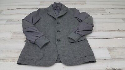 Fay Men Jacket Coat Made In Italy Gray Large New Arm Patches