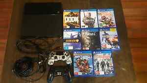 PS4 Black 500gb | 2 Controllers | 8 Games | All cables | Tahmoor Wollondilly Area Preview