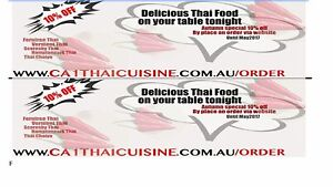 Promotion 10% off Thai Food Croydon Maroondah Area Preview