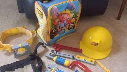 Bob the Builder backpack, tool set, tool belts, hard hat
