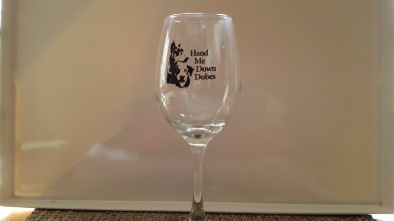 NEW DOBERMAN Wine Glass
