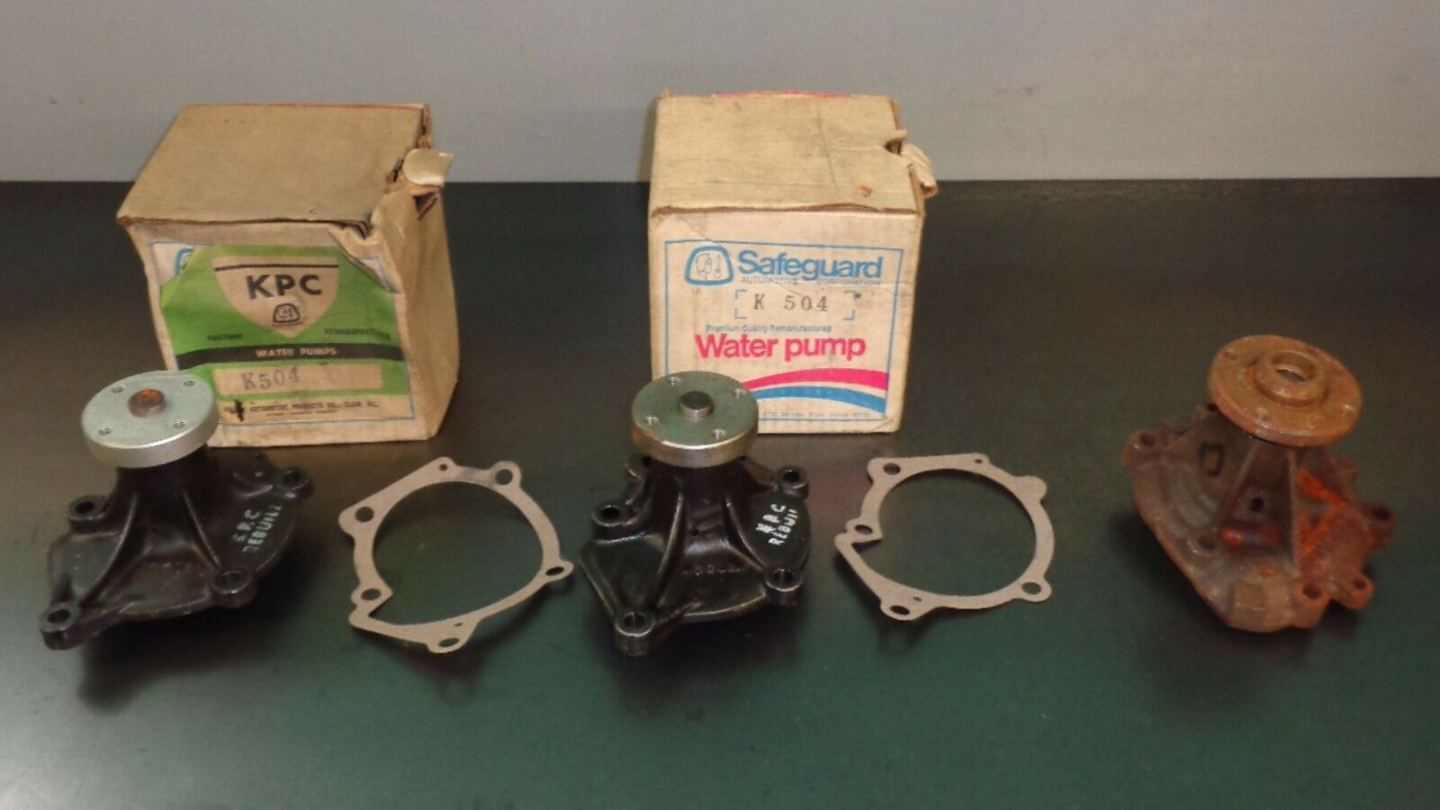 Wholesale Lot of (3) Reman Water Pumps 1971 1972 Dodge Colt Plymouth 4-Cylinder