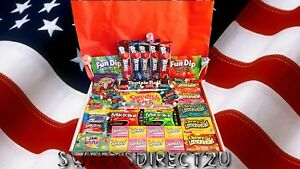 AMERICAN SWEETS GIFT BOX - 71 ITEMS USA CANDY HAMPER