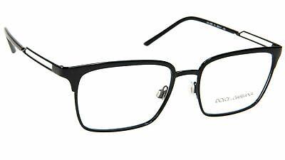 New Dolce & Gabbana DG 1295 01 Shiny Black RX Prescription Eyeglasses 55mm (Dolce Gabbana Prescription Glasses)