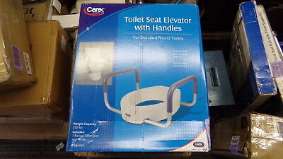NEW  Carex Toilet Seat Elevator w/ Handles B31700 *FREE SHIPPING*