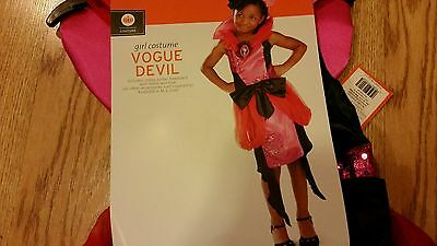 Vogue Devil Girls Halloween Costume Medium Complete Set Brand New Children's ](Halloween Devil Children)