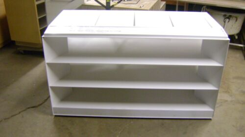 MODERN WHITE  METAL RETAIL DISPLAY SHELVING UNIT MERCHANDISE DISPLAY RACK