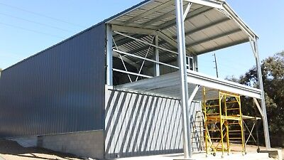 Engineer Custom Prefab Steel Home Partial 2nd Floor Mezzanine And Patio