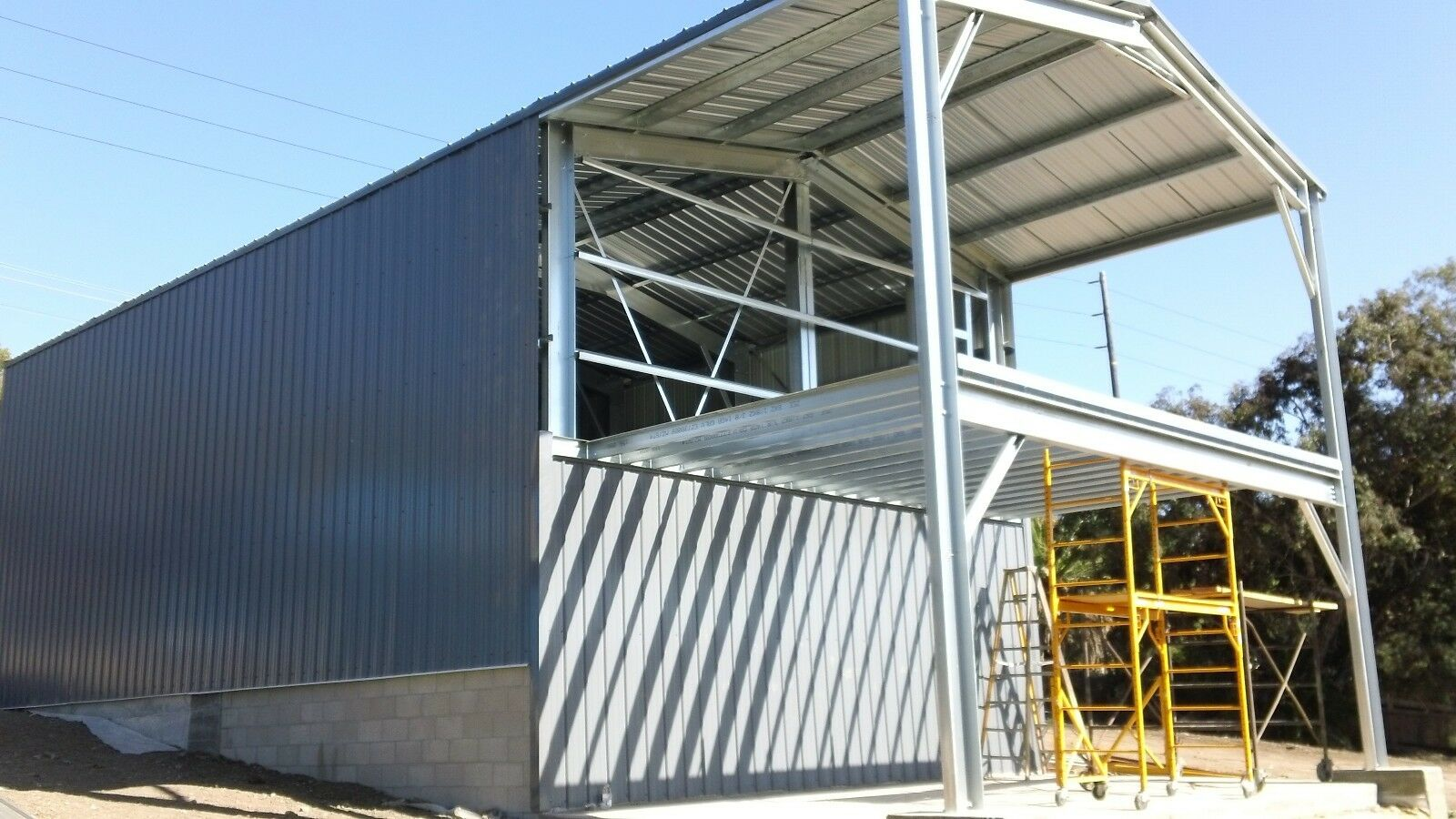 Engineer Custom Prefab Steel Home / partial 2nd floor Mezzanine and Patio