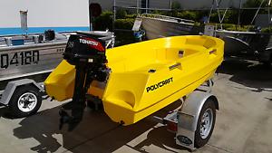 "Polycraft tuff tender 3m tohatsu 9.8hp oceanic gal trailer 13"" Pialba Fraser Coast Preview"
