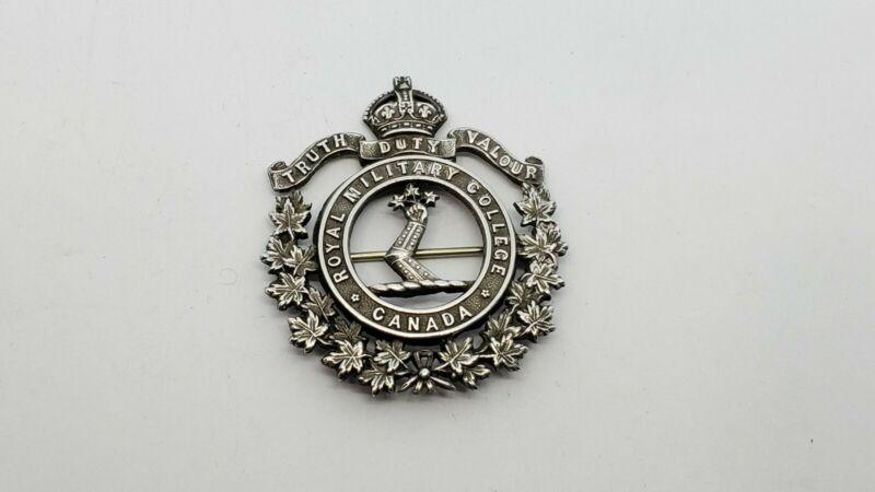 Vintage Sterling Silver CANADA ROYAL MILITARY COLLEGE PIN BROOCH