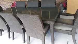 Vegas resin wicker 8 seater outdoor table& chairs Caboolture South Caboolture Area Preview