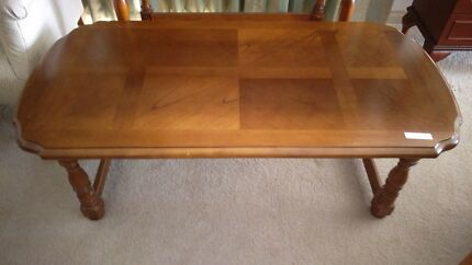 Solid timber coffee table
