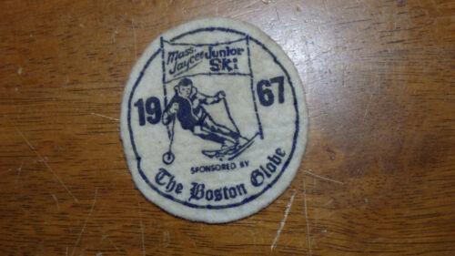 BOSTON GLOBE  NEWSPAPER  MASS JAYCEE  DOWN HILL SKIING  1967 PATCH BX 12 #8