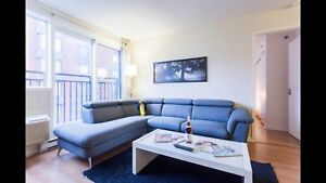Fully furnished 2 bdr in griffintown with indoor parking