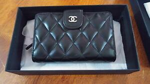 BRAND NEW AUTHENTIC CHANEL BLACK LEATHER SMALL PURSE Brisbane South East Preview