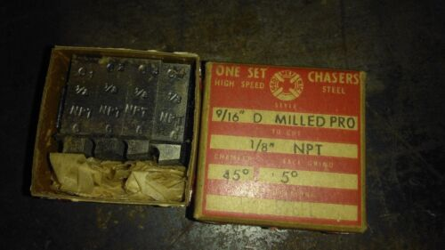 """GEOMETRIC 1/8"""" NPT MILLED PROJECTED  CHASERS  9/16 D,10 DRGREE HOOK,45 CHAMFER"""