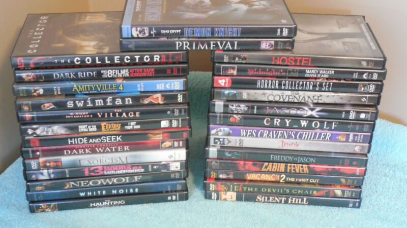 DVD Lot - Horror / Thriller - 32 Movies - Used