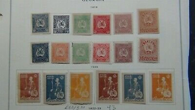 Georgia stamp collection on page/ glassines, etc w/est #80 or so
