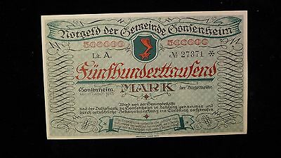 Notgeld Gonsenheim   Pfalz 1923