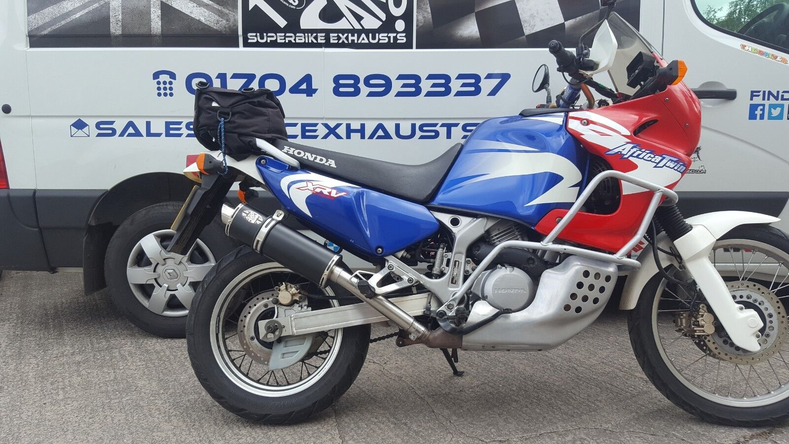 Honda Xrv750 Africa Twin 90 03 Stainless Performance Motorbike Exhaust Ebay