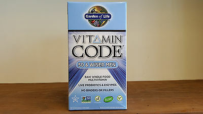 Vitamin Code Men 50 & Wiser 240 Capsules Whole Food Multivitamin Garden of Life