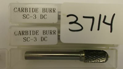 Sc-3 Dc 38 X 14 Shank Cylindrical Ball Nose Carbide Burr New Pic 3714