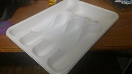 Cutlery organiser drawer insert