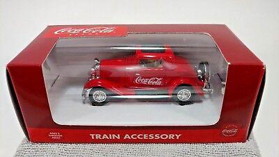 Coca-Cola Brand Train Accessory Die-Cast #K-94501 Red 1930's Coupe